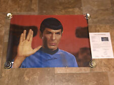 Star Trek Leonard Nimoy Hand Signed 24x34 Color Photo Canvas JSA Letter
