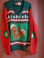 NWT Spencer's Workshop Unisex Size XXL Ugly/Naughty Light Up Christmas Sweater