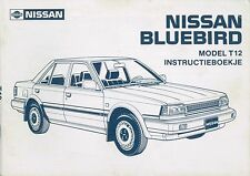 1986 NISSAN BLUEBIRD T12 BETRIEBSANLEITUNG INSTRUCTIEBOEKJE NIEDERLÄNDISCH