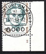 32) Berlin 50 Pf Frauen 770 FN 2 Formnummer Ecke 4 EST FFM mit Gummi RAR!