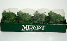 Midwest of Cannon Falls Set of 4 Frog Toad Candles Tea Lights Green