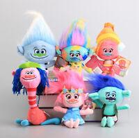 6X DreamWorks Animation Trolls Poppy Hug N Harper Plush Dolls Soft Toy Kids Gift