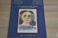 Les livres  de Dora Maar  Autographes et documents / Piasa Octobre 1998