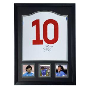 Diego Armando Maradona Autographed jersey framed  coa SA signed S.S.C. Napoli