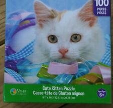 New 100 Piece Jigsaw Puzzle (Cute Kitten) Great for kids and adults!!