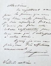 Changarnier nicolas (1793-1877) manuscript letter signed