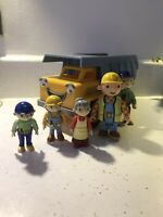 Bob The Builder Tipper Truck Toy Moving Car With 4 Figures