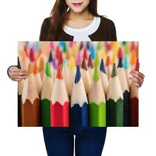 A2 | Colouring Pencils School Drawing Size A2 Poster Print Photo Art Gift #8698