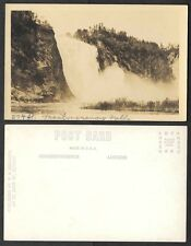 Old Canada Real Photo Postcard - Montmorency Falls, Quebec, RPPC