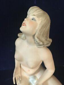 Vintage Cobalt Wallendorf  Figurine ( Large)