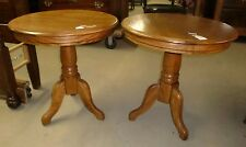 Oak Round Lamp Stands End Occasional Tables Buy One or Two