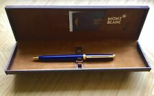 Vintage Montblanc Ballpoint Pen Noblesse  Oblige Blue,Gold Trim Boxed.
