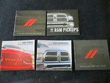 2014-2018 Dodge & Ram Trucks 5 Brochure Catalog Set Pickups Commercial Range