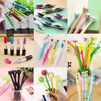 Novelty Pens Sets Ballpoint Office Stationery Joke Kids Shape School Toys Gift