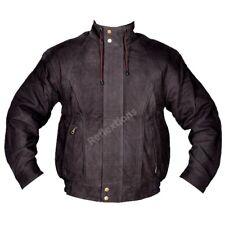 Mens Bomber Jacket Leather Fashion Biker Rider Cow Leather Antique Style Jacket