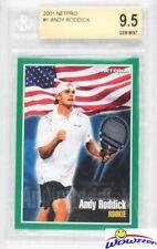2001 Netpro #1 Andy Roddick ROOKIE BGS 9.5 GEM MINT Tennis Hall of Famer!