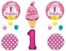 Sweet One Ice Cream 1st Birthday Party Balloons Decoration Supplies First