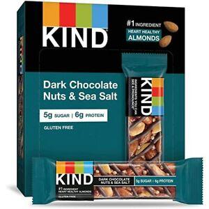 Kind Dark Chocolate Nuts & Sea Salt Bars 40g x 12