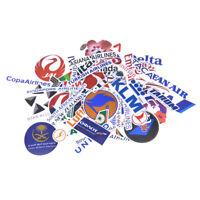52 Airline Logo Aufkleber,Luftfahrt-Reise-Koffer Laptop Aufkleber wasserdicht YG