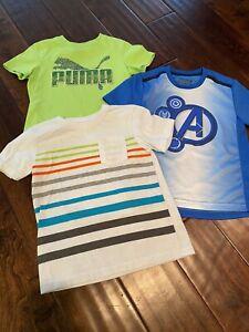 Lot of 3 boys shirts size 5 5t Puma, Marvel