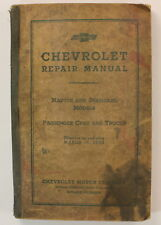 1933 Chevrolet Repair Manual Master Standard Models Cars Trucks Vintage