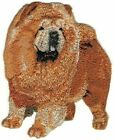 """3.5"""" Standing Full Body Chow Chow Dog Breed Embroidery Patch"""