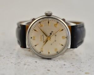 ZODIAC Autographic Automatic steel vintage 1960 steel Power Reserve 1150A watch