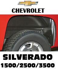 Rugged Liner inner Wheel Well Fender Liners Rear For Silverado 1500 / 2500 /3500