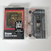 SLAYER SEASONS IN THE ABYSS CASSETTE TAPE DEF AMERICAN 1990