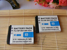 2X NP-BD1 Camera BATTERY For SONY DSC-T70 DSC-T700 DSC-T77 DSC-T90 DSC-T900