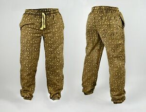 100% COTTON Medium Weight Unisex - Star Map Harem Sweat Pants Trousers Joggers -