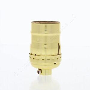 Leviton Light Socket Lampholder Short Electrolier Gold 1/8 IPS Keyless 9347-L00