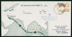 MayfairStamps 1976 Sri Lanka to Bahrain Concorde Colombo First Flight Cover wwp6