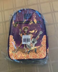 Loungefly Disney Pixar Coco Hector & Miguel Marigolds Mini Backpack New W/ Tags