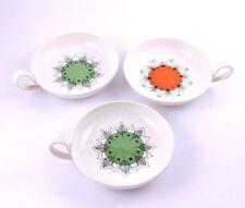 Villeroy & Boch Mid Century Leaf Green Orange Design Vintage Pattern Dishes RARE