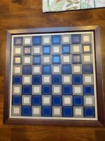 Franklin Mint 1983 Pewter/Brass Civil War Chess Set Fully Documented
