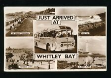 Yorkshire Yorks WHITLEY BAY M/view RP PPC used 1962