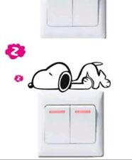 Snoopy light switch decal sticker baby nursery boy girl home decor