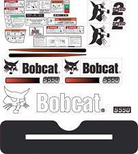 Bobcat S550 Aftermarket Decal Kit with controls and warnings.