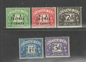 BOFIC - BMA Eritrea 1950 KGVI Postage Dues Set Sc J6-10 OG LHM
