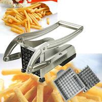 Stainless Steel French Fry Cutter Potato Vegetable Slicer Chopper Dicer 2 Blade