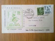 A133-SOBRE MATASELLOS ESPECIAL VALENCIA 1ª EXPOSICION FILATELICA 1964