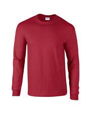 Rojo Cardenal Gildan Manga Larga Ultra Algodón t-shirt-mens Suéter S M L XL 2xl