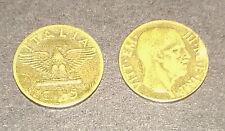 """Collezionismo/Banconote """"MONETA VITTORIO EMANUELE III RE E IMPERATORE C.5"""" 1942"""
