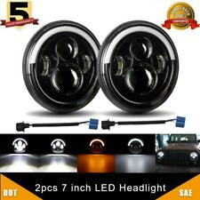 2x 7 Inch Cree LED Headlight HI/LO Sealed Beam for Chevy C10 Camaro Pickup Truck