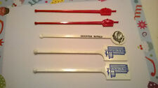Stouffer's Hotels 5 Swizzle Sticks Drink Stirrers Top of Rock The Grass Parrot