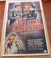 A Gentle Gangster Movie Poster, Original, Folded, One Sheet, year 1943, U.S.A.
