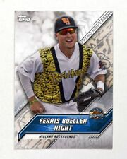 2017 Topps Pro Debut Promo Night Uniforms Ferris Bueller Midland RockHounds