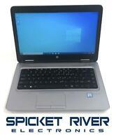"HP ProBook 640 G3 14"" Dual Core i7-7600U 2.80GHz 256GB SSD 16GB RAM Win10 #53922"