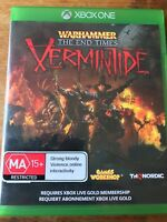 WARHAMMER THE END TIMES VERMINTIDE XBOX ONE ORIGINAL PAL VGC BRAND NEW